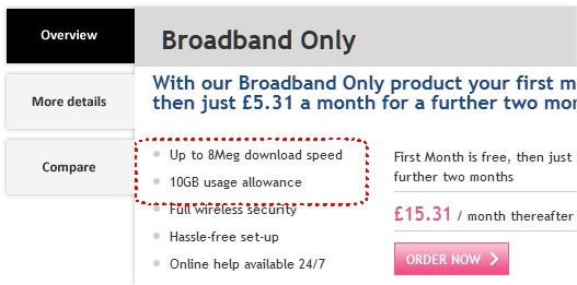 AOL Broadband Cap