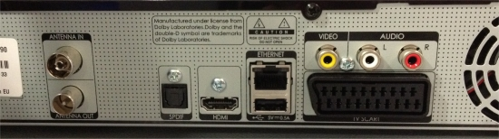 Humax DTR-T1000 YouView Box - Rear View